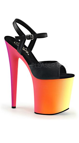 Neon Love Platform Sandal - as shown
