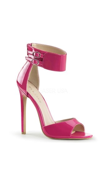 Double Buckle Ankle Strap Sandals - as shown