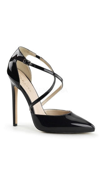 Black Pumps with Cross Over Straps - as shown