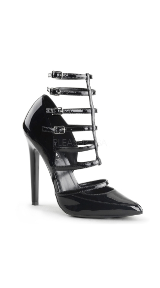 New Heights Strappy D'Orsay 5 Inch Pump - Black Pat
