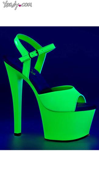 Neon UV Reactive Sky Platform - Neon Green/Green