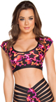 Neon Star Strappy High Waisted Shorts, Star Print Shorts, Strappy Side Shorts