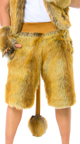 Men's Lion Gloves, Furry Gloves, Lion Gloves