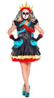 plus size sugar skull senorita costume quick view - Cheap Plus Size Halloween Costumes 4x