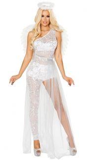 Sexy Angel Costume, Angel Halloween Costume, Dark Angel Costume