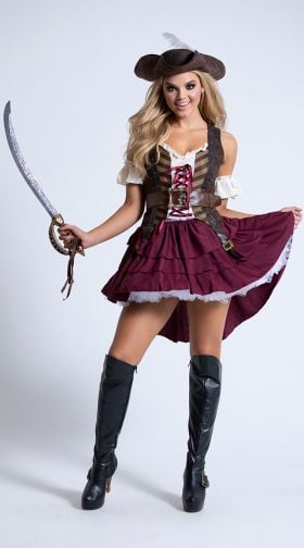 Gothic Amateurs Naked Pirate Costumes For Women