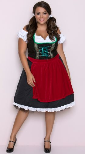 5415e28a62 Plus Size Beer Girl Costumes  Plus Size Bar Wench Costume
