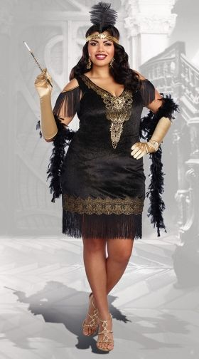 756e1767926 Plus Size Swanky Flapper Costume