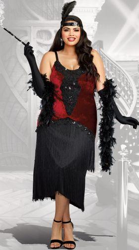 3e784dc42f6 Plus Size Flapper Costumes  1920s Plus Size Flapper Costumes