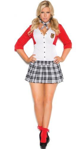 Sexy School Girl Costume, School Girl Halloween Costumes -2905