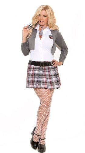 cec53fdb41 Plus Size Queen Of Detention Costume
