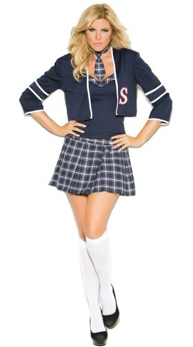Sexy Plus Size School Girl Costumes, School Girl Plus Size -2231