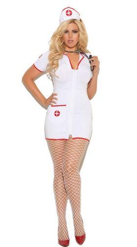 8e0649697135 Plus Size Sexy Head Nurse Costume