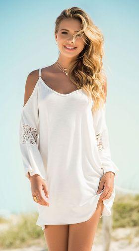 6f636abeb555 Cold Shoulder Ivory Dress