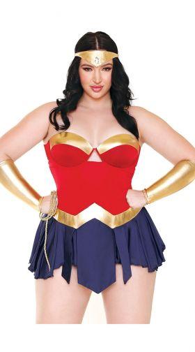 73d018914c1 Plus Size Wonderbae Superhero Lingerie Costume