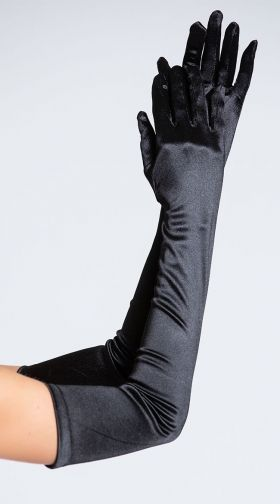 Adult size Opera Length Gloves Black or White Halloween Costume Accessory fnt
