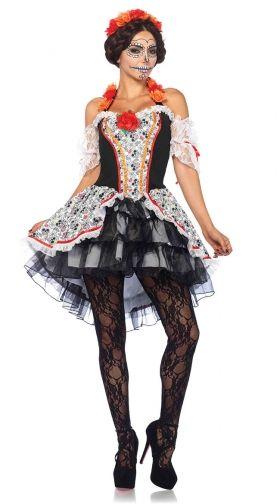 619b966fefb Sexy Sugar Skull Senorita Costume