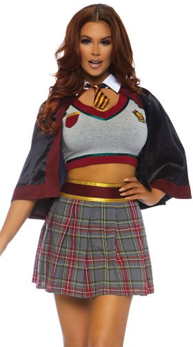 Sexy School Girl Costume, School Girl Halloween Costumes -8529