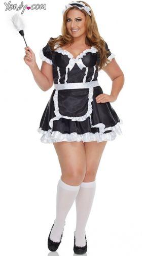Plus Size Mistress Maid Costume, Plus Size Maid Costume -3605