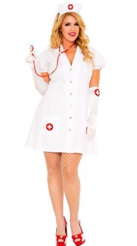 Plus Size Cardiac Arrest Nurse Costume, Plus Size Sexy -2828