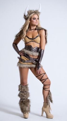 The Viking Deluxe Costume, Female Viking Costume, Adult -5784