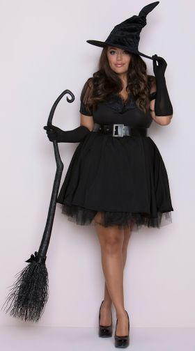 6f6c31beaf1 Sexy Plus Size Halloween Witch Costumes - Sexy Plus Size Witch ...