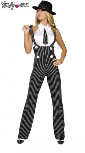 Sexy Gangster Costumes, Gangster Halloween Costumes, Female Gangster