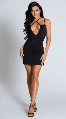 sexy black cocktail dress