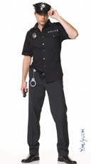 Men's Cop Costume/ Police Costume - Black