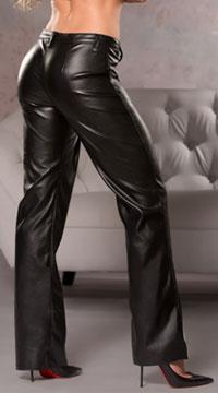 Faux Leather Bootcut Pants b605e021a