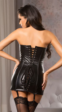 4ebebd2068d ... Lace Me Up Corset Dress - Black ...