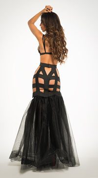 I'm Your Fantasy Mermaid Dress - Black