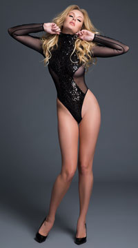 Coco Glamorous Sequin Bodysuit - as shown