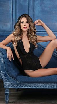 Chloe Sweet As Candy Bodysuit - Black