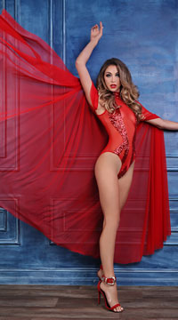 Coco Decadently Divine Cape - Red