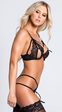 Bold Desires Bra Set - Black