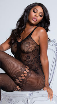 Intricate Fishnet Bodystocking - as shown