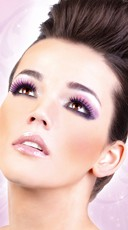 Black and Purple Deluxe Eyelashes - as shown