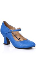 Victorian Mary Jane Heel - Blue