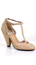 T-Strap Mary Jane Heel - Nude