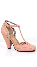 T-Strap Mary Jane Heel - Pink