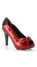 Glitter Two Tone Pump - Red