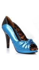 Glitter Two Tone Pump - Blue