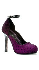 Glitter Mary Jane with Polka Dots - Purple