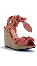 Strawberry And Polka Dot Daisy Wedge - Pink