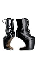 High Rise Lace Up Motor Boot Platform - as shown