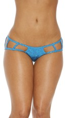 Cage Boyshort Panty with Cut Outs - Blue
