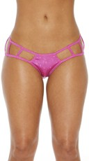 Cage Boyshort Panty with Cut Outs - Fuschia
