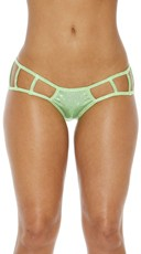 Cage Boyshort Panty with Cut Outs - Green