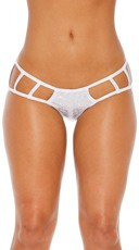 Cage Boyshort Panty with Cut Outs - Silver